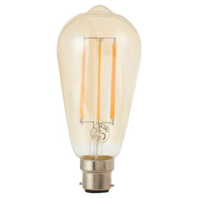 6W LED Vintage Lamp - BC - Tinted