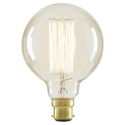 6W LED Vintage Large Globe - BC - Clear)