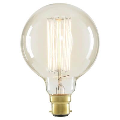6W LED Vintage Large Globe - BC - Clear