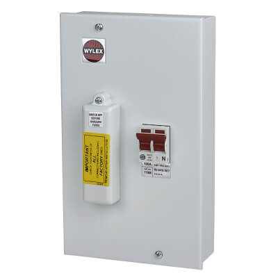 Wylex 100A Single Pole Metal Switch Fuse Metal)
