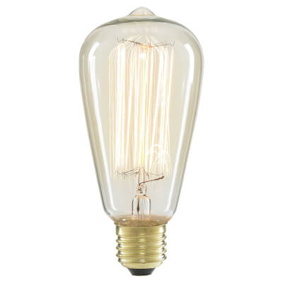 6W LED Vintage Lamp - E27 - Clear)