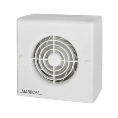 Manrose CF100H 4 Inch Centrifugal Humidistat Extractor Fan)
