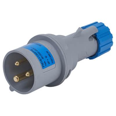 16A 2 Pin and Earth Plug - Blue