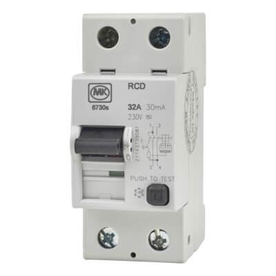 MK 30A 30mA 2 Module RCD