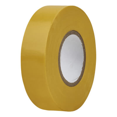 Directa 19mm Roll PVC Tape 20m - Yellow)