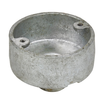 Steel Conduit Back Outlet Box - 20mm - Galvanised)