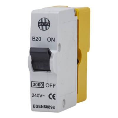 Wylex 20A Plug In MCB - Type B)