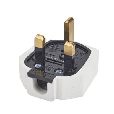 MK Duraplug 13A Rubber Plug Top - White)