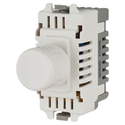 BG 400W 2 Way Push Dimmer Grid Module - White)