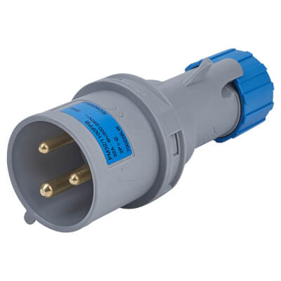 Lewden 32A 2 Pin and Earth Plug - Blue )
