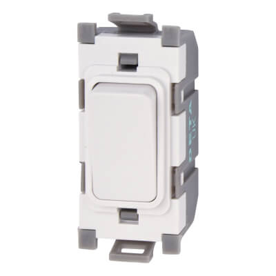 Deta 20A 1 Way Single Pole Grid Switch - White)