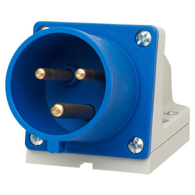 32A 2 Pin and Earth Appliance Inlet - Blue)
