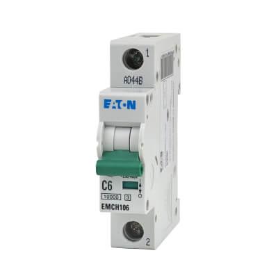 Eaton MEM 6A Single Pole 3 Phase MCB - Type C | ElectricalDirect