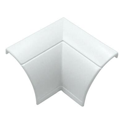 D-Line Flat / Internal Bend - 22 x 22mm - Clip-Over - White)