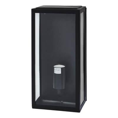 Minerva 60W LED Half Box Lantern - Black)