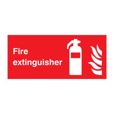 Fire Extinguisher - Size 100 x 200mm - Rigid Plastic