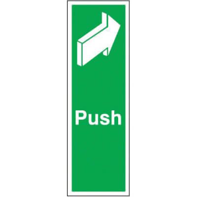 Push Sign - 150 x 50mm - Rigid Plastic