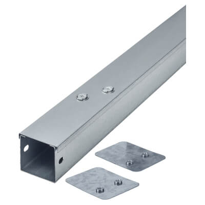 Steel Trunking - 50mm x 50mm x 3m - Galvanised)