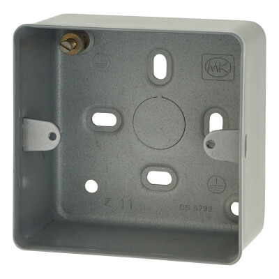 MK 1 Gang Surface Box without Knockouts - 41mm