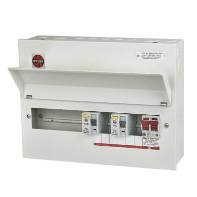 Wylex 100A Amendment 3 High Integrity Metal Consumer Unit - 10 Way Dual Split Load
