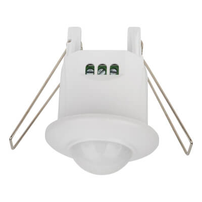 360° Recessed Mini PIR Sensor - White)