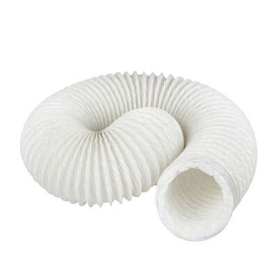 Manrose 4 Inch PVC Flexible Ducting - 3m - White)