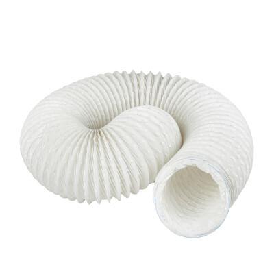 Manrose 4 Inch PVC Flexible Ducting - 3m - White)