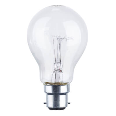60W BC GLS Lamp - Clear)