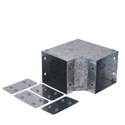 Galvanised Top Lid Bend - 90° - 100 x 100mm
