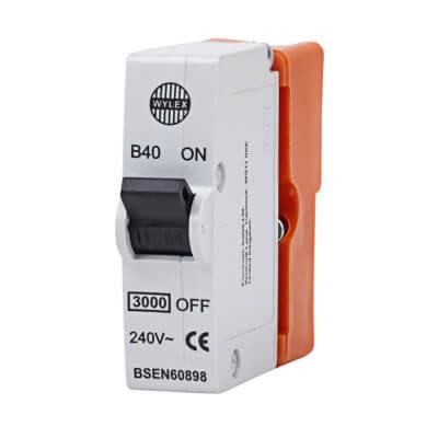 Wylex 40A Plug in MCB - Type B)
