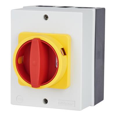 32A 3 Pole Rotary Isolator Waterproof - IP65)