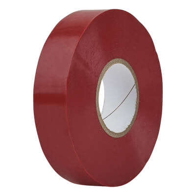 Directa 19mm Roll PVC Tape - 20m - Red)