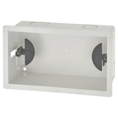 Marshall Tufflex 2 Gang Dry Lining Box - 47mm - White)