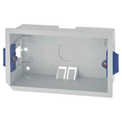 BG 2 Gang Dry Line Double Skinned Box -  46mm - White)