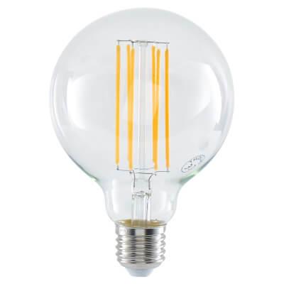 6W LED Vintage Large Globe - E27 - Clear)