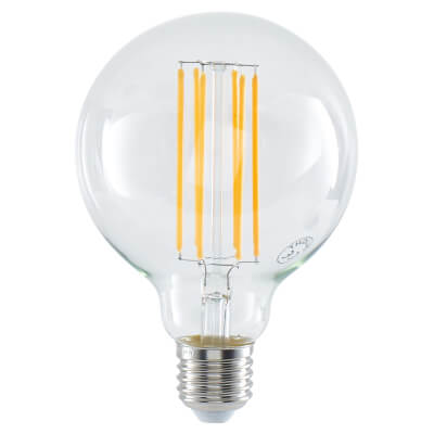 6W LED Vintage Large Globe - E27 - Clear)
