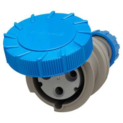 63A 3 Pin Trailing Socket - Blue)