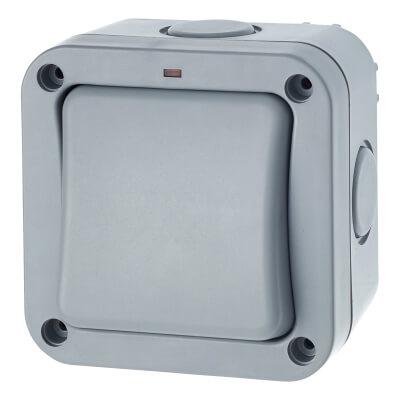 BG 20A IP66 1 Gang 2 Way Outdoor Switch - Grey)