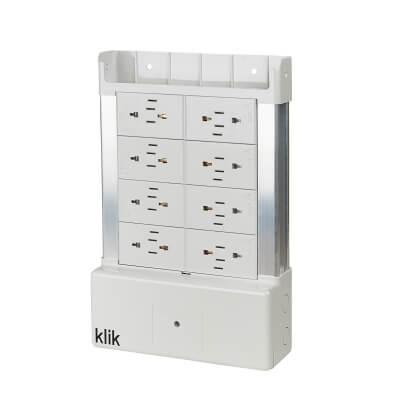Hager Klik 8 Way Outlet Distribution Box - White)