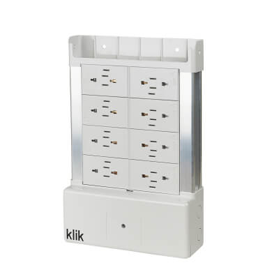 Hager Klik 8 Way Outlet Distribution Box - White)