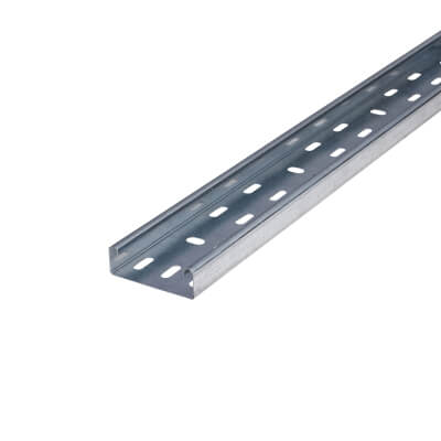 Medium Duty Cable Tray - 75 x 3000mm - Galvanised)