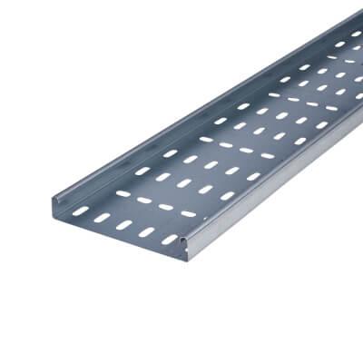 Medium Duty Cable Tray - 150 x 3000mm - Galvanised)