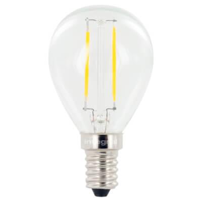 Integral LED 2.8W Mini Globe Filament Lamp - E14 - 2700K )