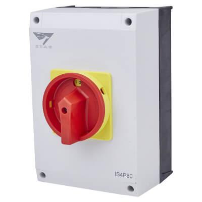 80A 4 Pole Rotary Isolator Waterproof - IP65)