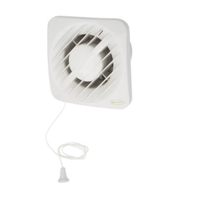 Greenwood Airvac AXS100HT 4 Inch Axial Humidistat Extractor Fan with Timer)