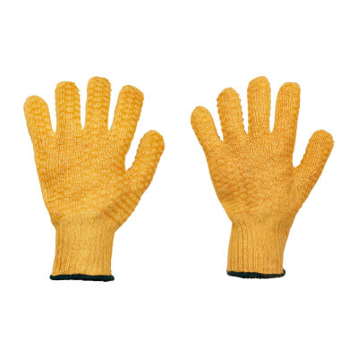Criss Cross Gloves - Yellow)