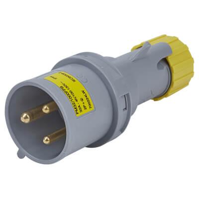 32A 2 Pin and Earth Plug - Yellow)