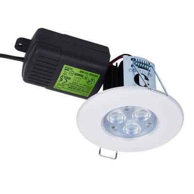Halers H2 PRO550 LED 70&deg Downlight - Dimmable - IP65 - Warm White)