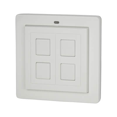 LightwaveRF 2 Gang Wire-Free Switch - White)