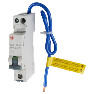 Wylex 40A 30mA Single Pole RCBO - Type B)